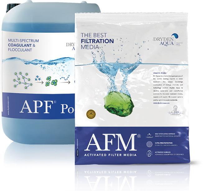 Эффективность APF с фильтрующим материалом AFM от Dryden Aqua