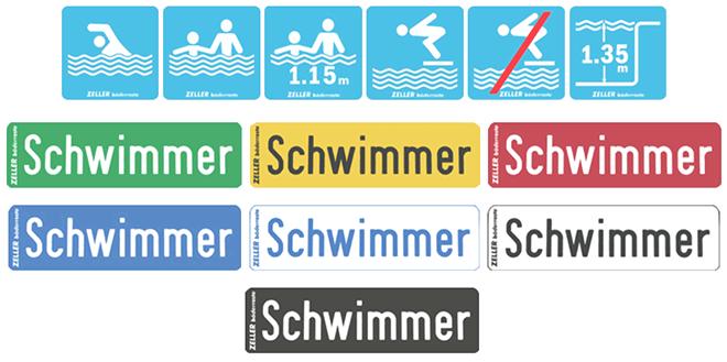 переливная решетка Zeller информационные таблички